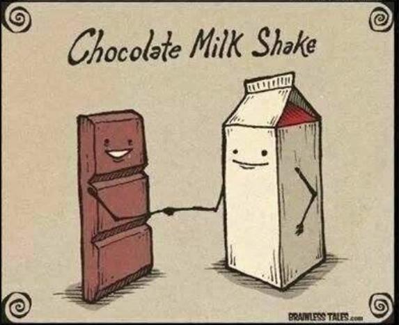 Chocolate Milkshake cartoon
