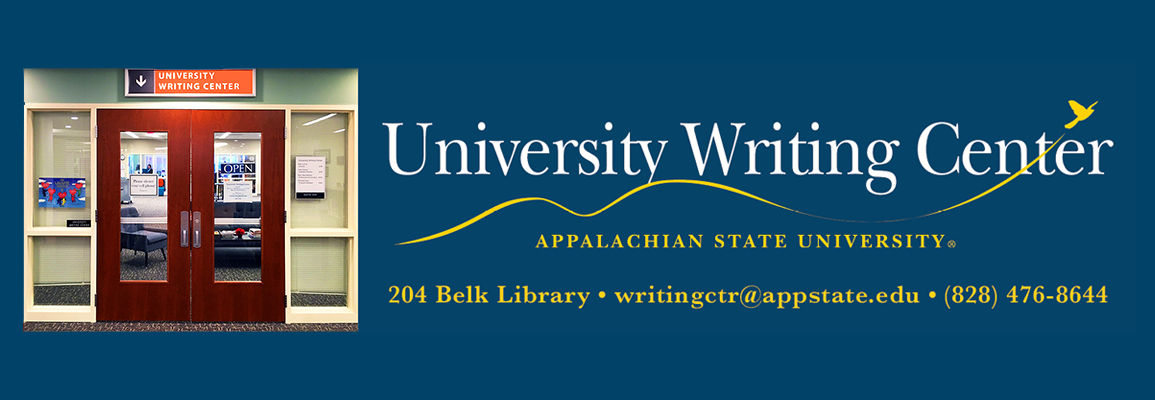 University Writing Center 204 Belk Library (828) 476-8644