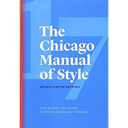 cover of the chicago manual of style 17th edition