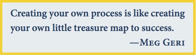 Creating your own process is like creating your own little treasure map.